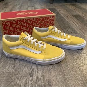 Vans old skool aspen gold yellow and white shoes